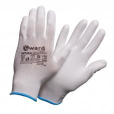 Перчатки из нейлона с полиуретановым покрытием Gward White