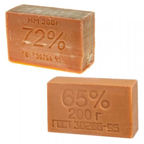 Мыло хозяйственное коричневое 65%/72%