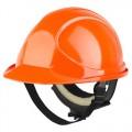 Каска защитная оранжевая Байкал Люкс Ампаро
