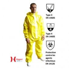 Комбинезон защитный Hopen Kosmo PE100-1 желтый