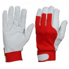 Перчатки кожаные комбинированные на велкро 2Hands 0255