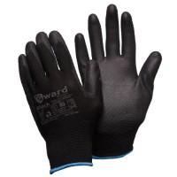 Перчатки нейлоновые с черным полиуретаном Gward Black