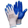 Нейлоновые перчатки с нитриловым покрытием Gward Blue