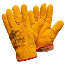 Спилковые утепленные перчатки Gward Driver Lux Zima