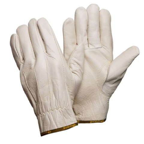 Кожаные анатомические перчатки серые Gward Force