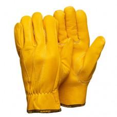 Кожаные анатомические перчатки желтые Gward Force Gold
