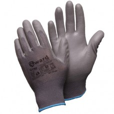 Перчатки нейлоновые с серым полиуретаном Gward Gray