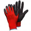 Красные нейлоновые перчатки с черным латексом Gward Red