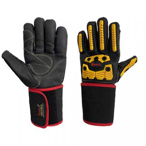 Антивибрационные кожаные перчатки Gward Vibroskin