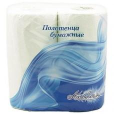 Полотенца бумажные белые 2 рул Альбертин 15С3705
