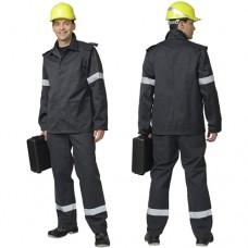 Костюм шахтёрский: куртка, брюки серый с СОП, тип А