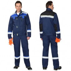 Костюм Бостон синий, куртка, полукомбинезон