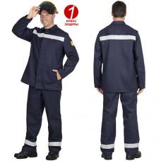 Костюм сварщика Геркулес с СОП, куртка, брюки, 1 класс защиты
