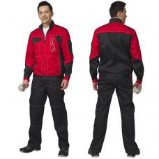 Костюм Гранд черный с красным, куртка, полукомбинезон