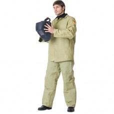 Костюм сварщика брезентовый с налокотниками и наколенниками, куртка, брюки