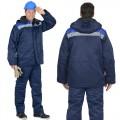 Куртка Бригадир зимняя удлиненная, цвет синий