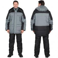 Куртка Европа зимняя серая