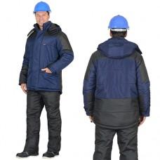 Куртка Европа зимняя синяя