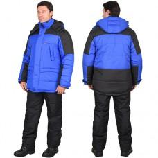 Куртка Европа зимняя васильковая