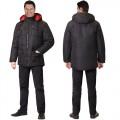 Куртка Кайман зимняя черная ВО с флисом