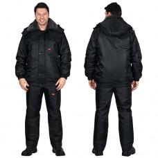 Куртка Полюс черная зимняя