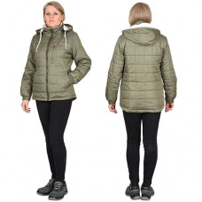 Женская куртка Прага-Люкс ВО оливковая зимняя