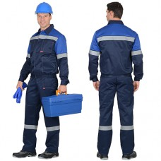 Костюм Легионер темно-синий, куртка, полукомбинезон