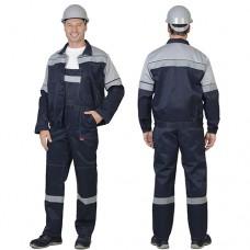 Костюм Легионер темно-синий с серым СОП 50 мм, куртка, полукомбинезон