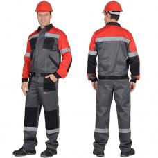 Костюм Лигор серый с красным, куртка, брюки