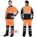 Костюм Магистраль-Люкс оранжевый, куртка, брюки