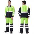 Костюм Магистраль-Люкс зеленый, куртка, брюки
