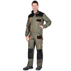 Костюм Манхеттен оливковый, укороченная куртка, брюки МВО