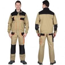 Костюм Манхеттен песочный, укороченная куртка, брюки МВО