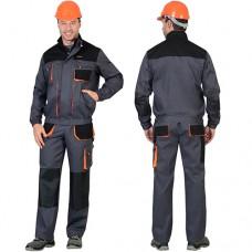 Костюм Манхеттен темно-серый, укороченная куртка, брюки МВО
