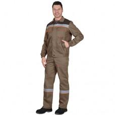 Костюм Мастер светло-коричневый, куртка, полукомбинезон