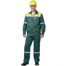 Костюм Механик зеленый, куртка, брюки