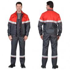 Костюм Навигатор серый, куртка, полукомбинезон