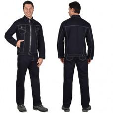 Костюм Плутон черный, куртка, брюки, 100% хлопок