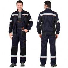 Костюм Полином темно-синий, куртка, полукомбинезон