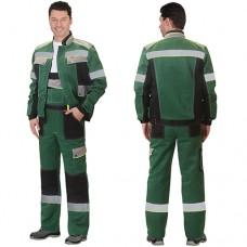 Костюм Полином зеленый, куртка, полукомбинезон