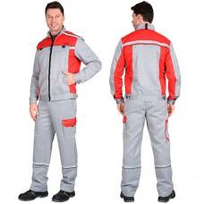 Костюм Практик-1 серый, куртка, полукомбинезон