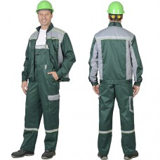 Костюм Практик-1 зеленый, куртка, полукомбинезон