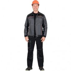 Костюм Престиж, серая куртка, черный полукомбинезон
