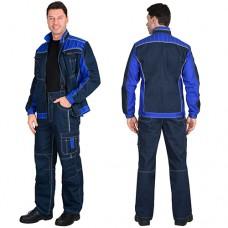 Костюм Престиж-Люкс синий с васильковым, куртка, брюки МВО
